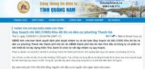 dự án khu đô thị và dân cư Thanh Hà Hội An