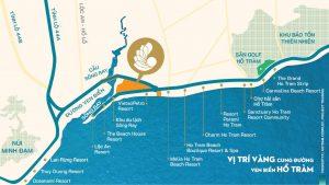 Vị trí dự án Hồ Tràm Complex