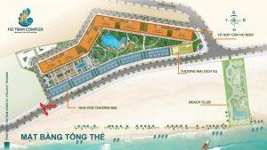 Mặt bằng tổng thể dự án Hồ Tràm Complex