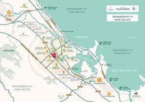 Sơ đồ vị trí dự án Chu Lai Riverside